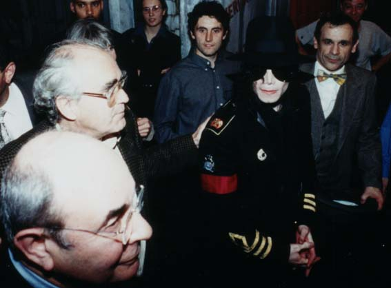 Michael Jackson, Michel Legrand, Stanley Donen, Francis Perrin